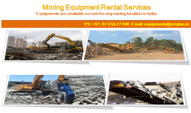 All Mining Equipments are available on Rent