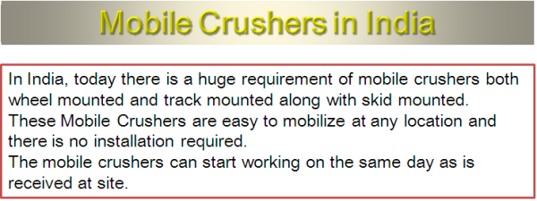 Mobile Crusher manufacturers and suppliers in India